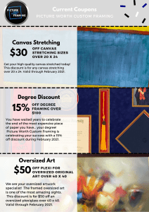 Picture Worth Custom Framing Coupons and Savings