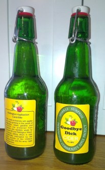 Goodbye Dick, the first cider, named for the first fermenter to be emptied