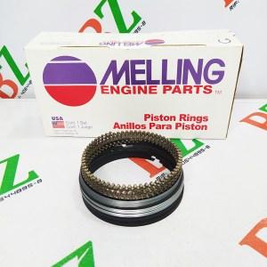Juego de anillos Chevrolte modelo Lumina motor 3.1 marca Melling medida 0.50 Cod 4888