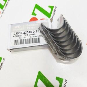 23060 22540 0.75 Concha de biela Med 0.75 A 0.30 Hyundai Accent Getz Elantra motor 1.3 1.5 1.6 marca Hyundai