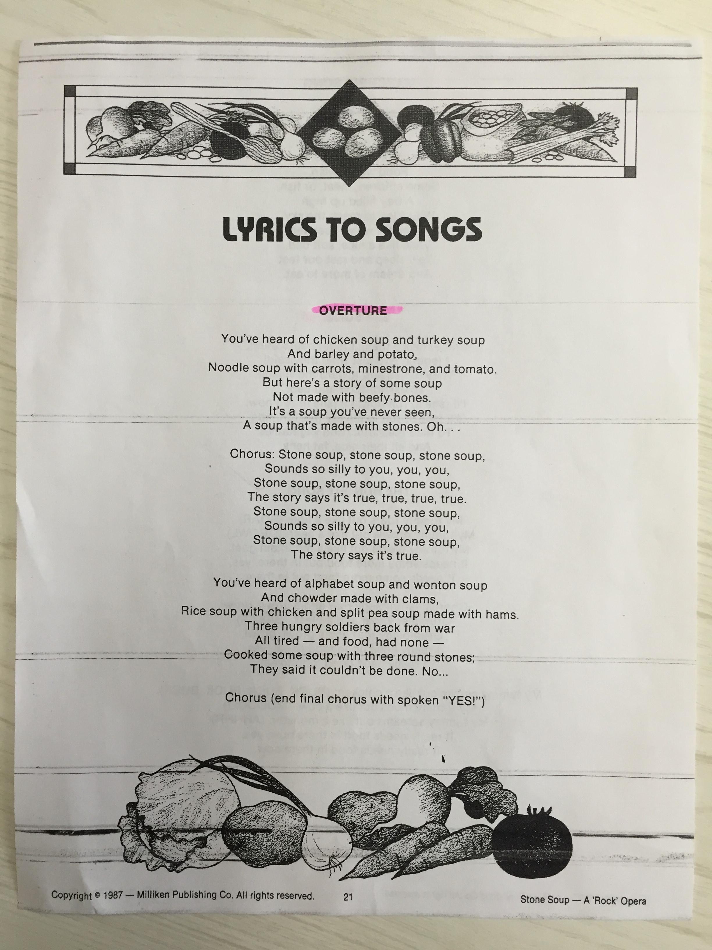Stone Soup Lyrics