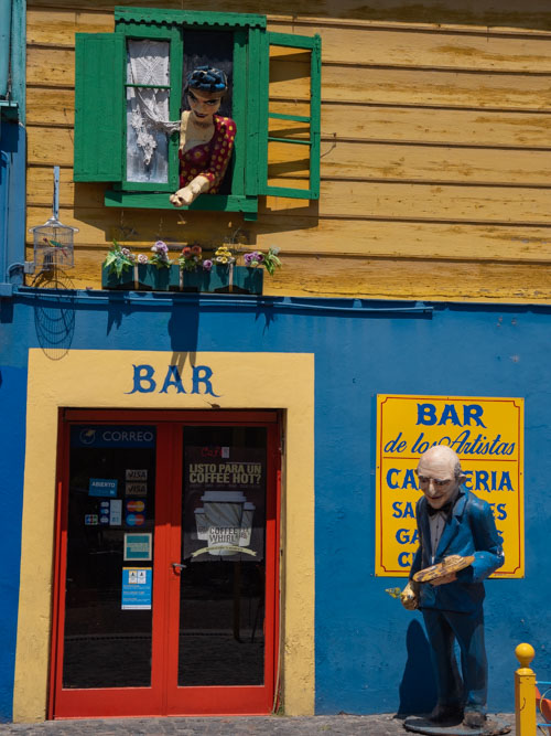 The colours of La boca at a bar in Buenos Aires, Argentina