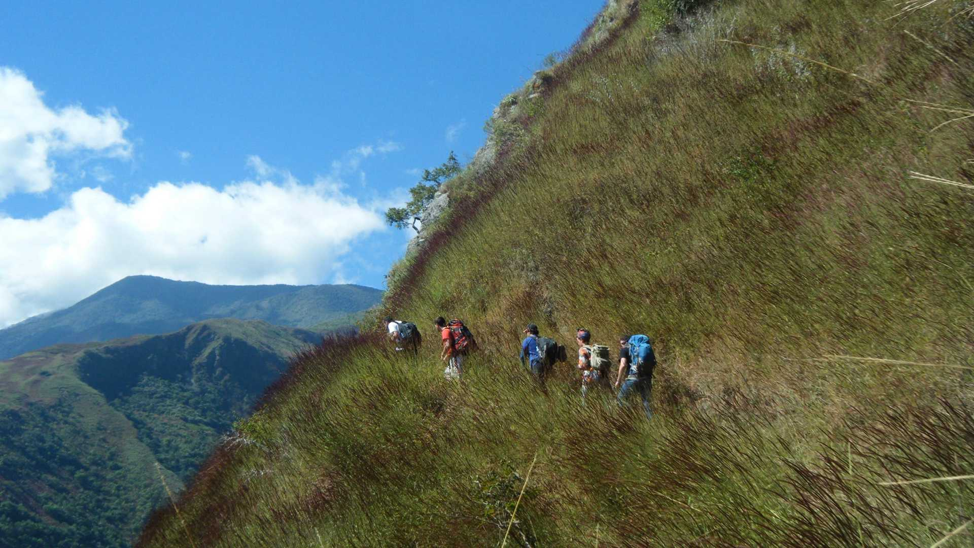 A Section of Inca Trail on the Inca Jungle Trail to Machu Picchu