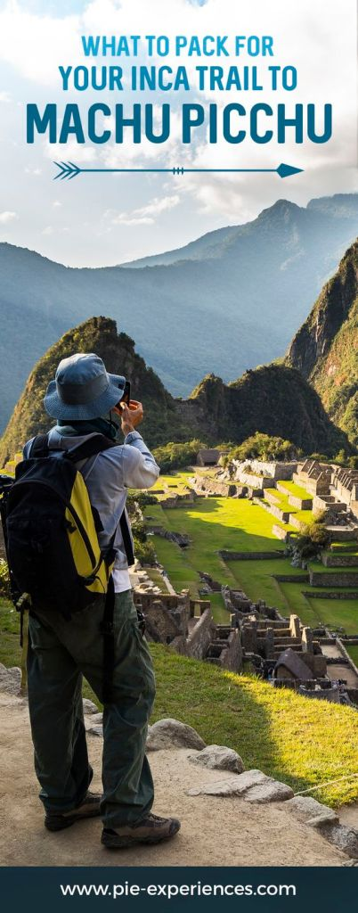 Inca Trail Packing List - Pinterest image