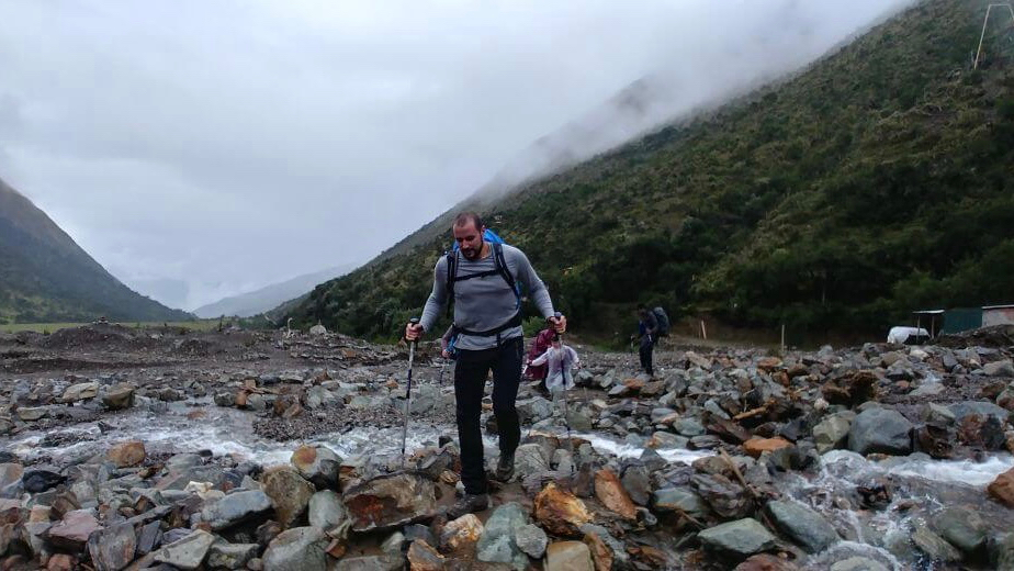 Hiking on Salkantay Trek