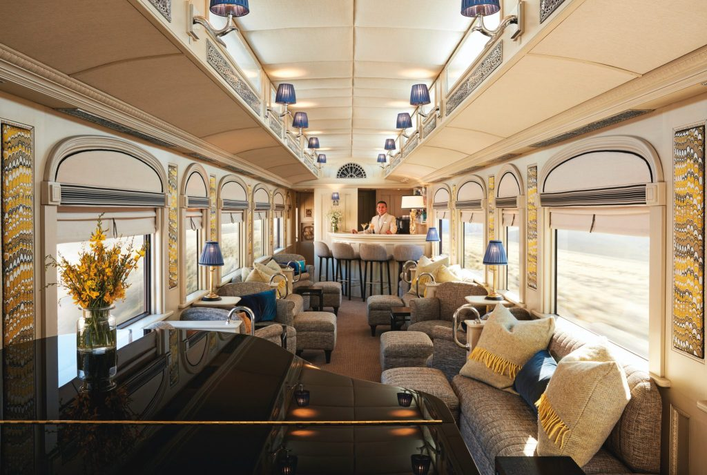 Piano Bar - Belmond Andean Explorer - Peru Luxury train