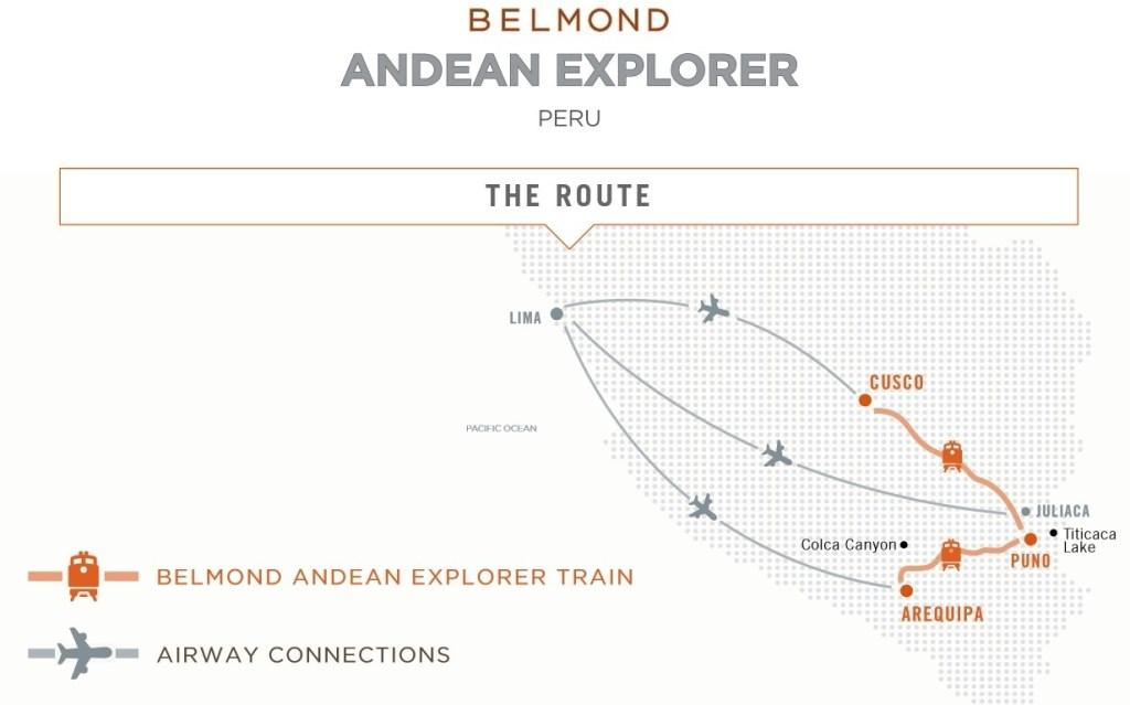 Map Belmond Andean Explorer