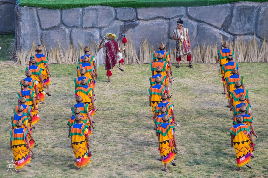 Inti Raymi festival - Colorful performers at Sacsayhuaman.