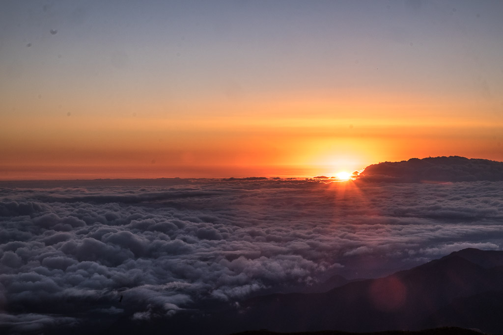 The famous sunrise at Tres Cruces lookout