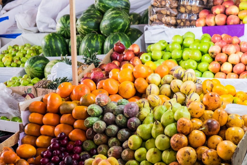 Cooking class in Cusco - Colourful fruits at San Pedro market.