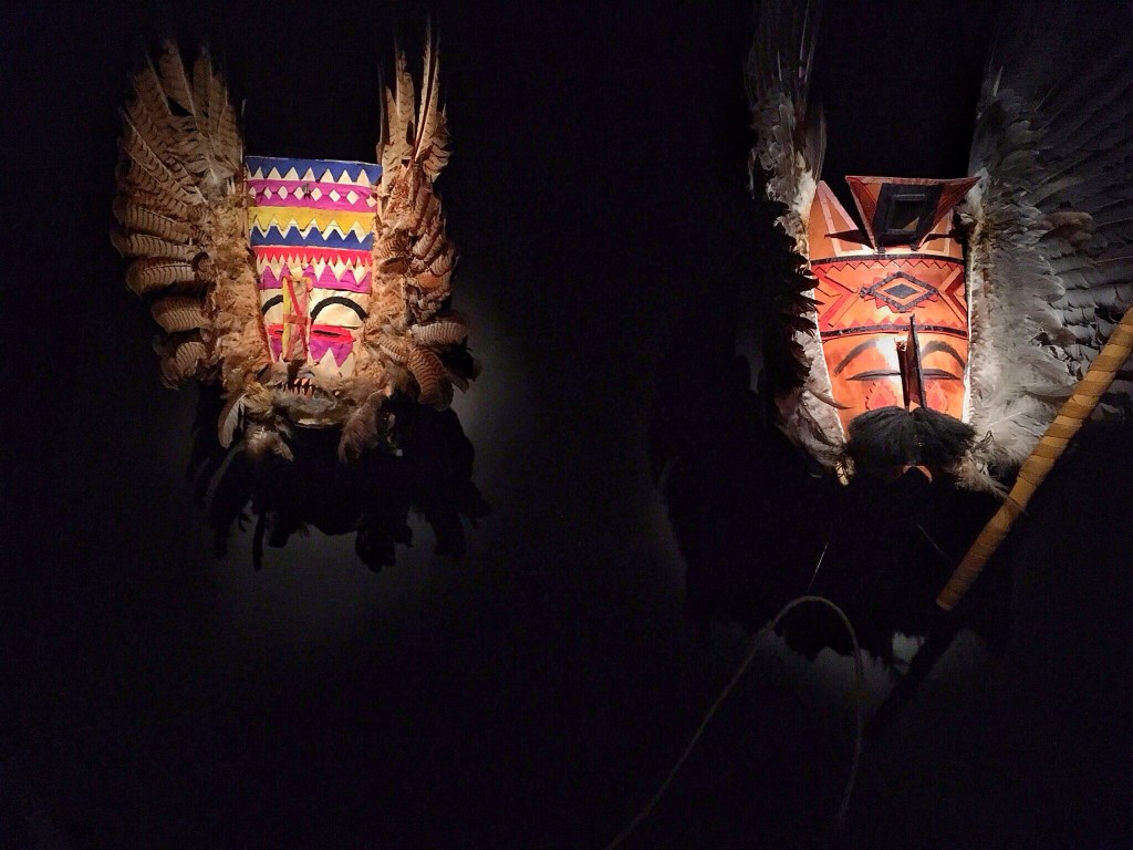 masks in The National Museum of Ethnography and Folklore, La Paz Bolivia