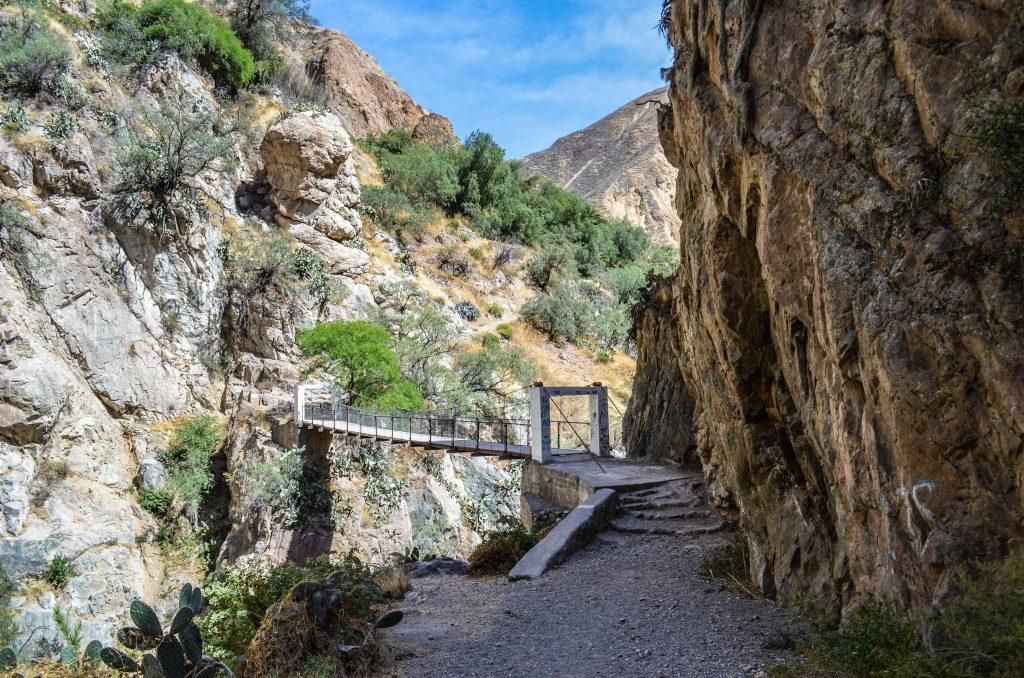 Colca Canyon trek - Bridge over Colca River.