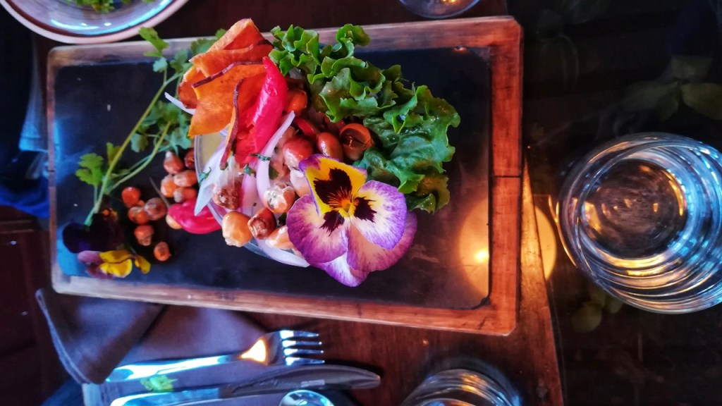 a delicious vegan peruvian meal