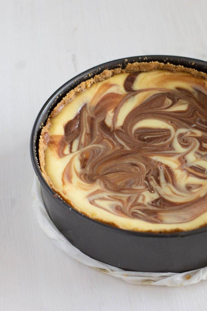 עוגת גבינה, שוקולד לבן ונוטלה