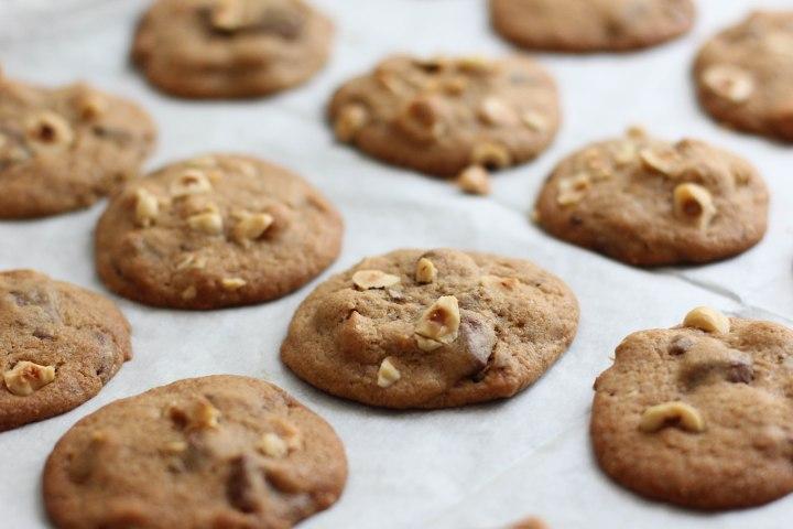עוגיות שוקולד חלב ואגוזי לוז
