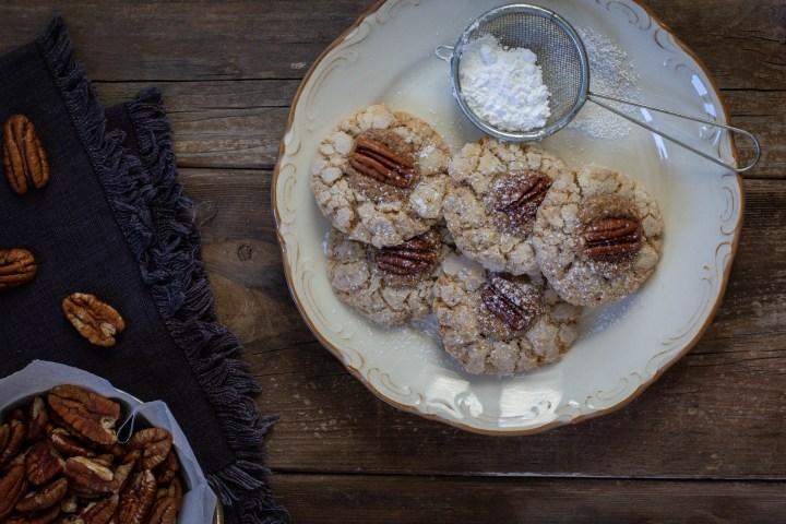עוגיות טריפל פקאן (או- עוגיות פקאן במילוי קרם פקאן)