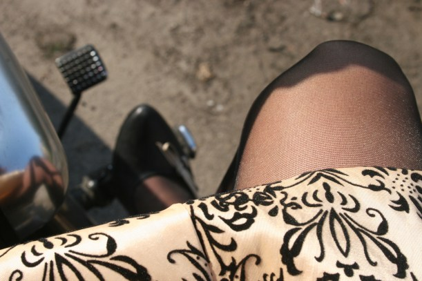 The look on a motor bike