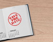 calendar Save the DAte stamp