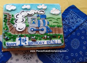 Wondrous How To Decorate For A Train Birthday Party Piece Of Cake Funny Birthday Cards Online Inifodamsfinfo
