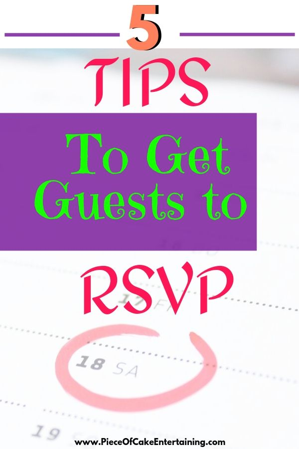 5 tips to get guests to RSVP