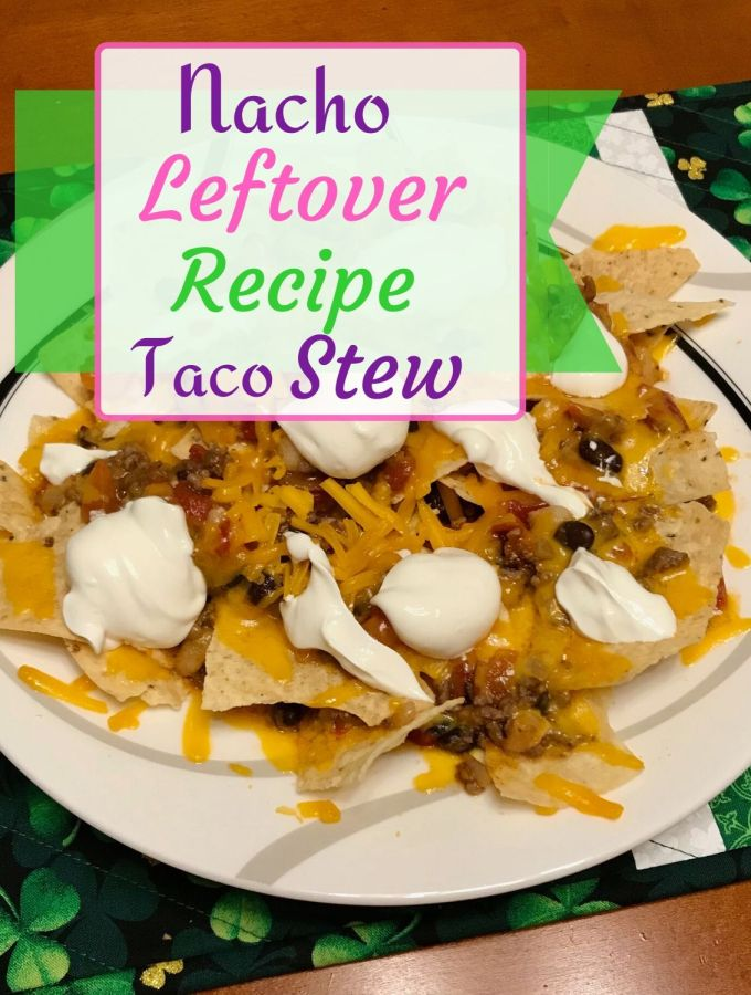 Nacho Leftover REcipe Plate of Nachos