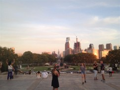 view of Philly from the Philadelphia Museum