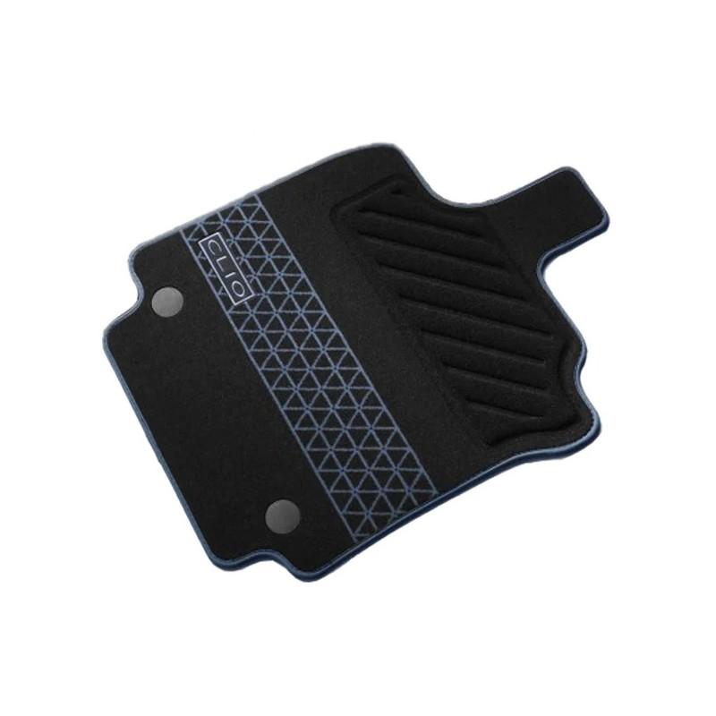tapis de sol premium d origine renault pour renault clio iv 4 12 19 noir bleu textile 4 pieces autodc