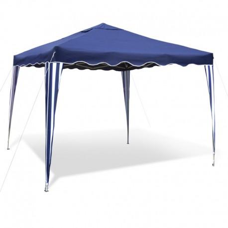 barnum de jardin bleu pliable 3 x 3 m materiau oxford 200d structure metallique protege contre les petites pluies avec sac