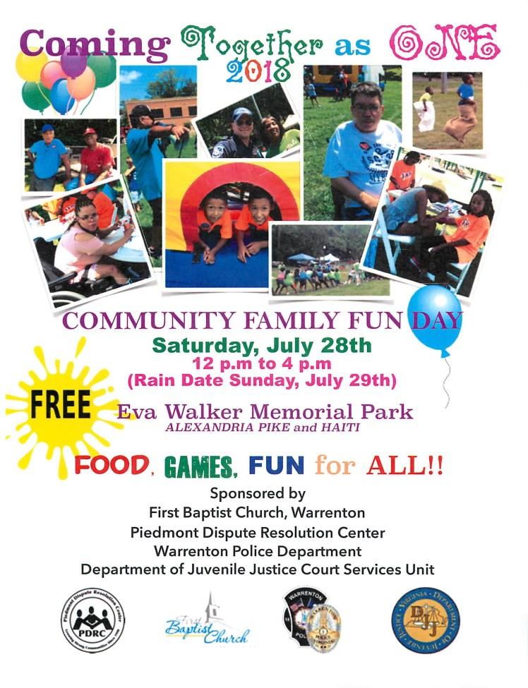 Community Fun Day 2018 Flyer