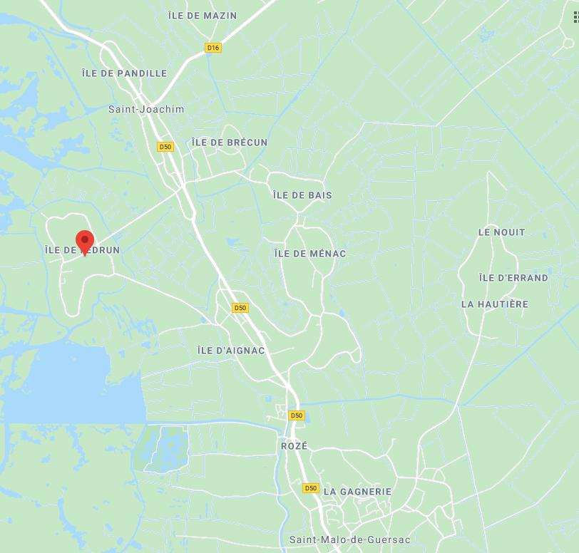 îles de saint Joachim capture google maps