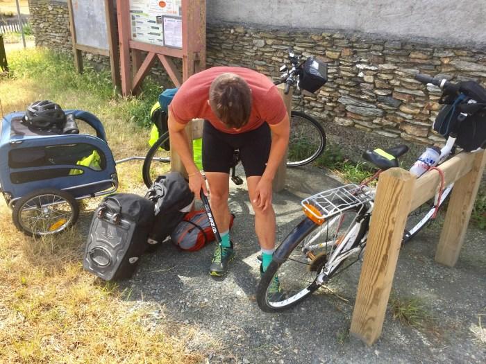 préparation crevaison vélodyssée