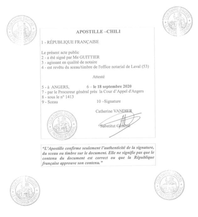 gestion du poder notarial apostille
