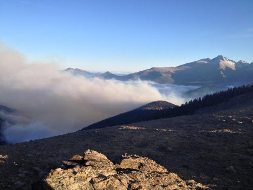 Smoke was easily seen from the Ute Trail. (Photo: Walt Hester)