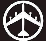 Modern adaptation of bomber peace symbol