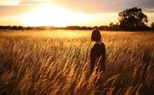 Kobieta w polu