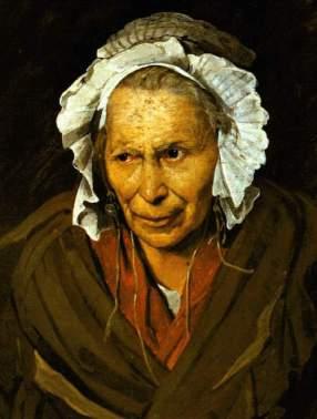 La loca, 1822-1828, óleo sobre lienzo, Museo de Bellas Artes de Lyon.   Théodore Géricault (1791-1824)