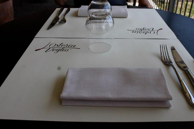osteria veglio table