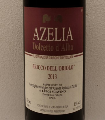 Azelia dolcetto 2013