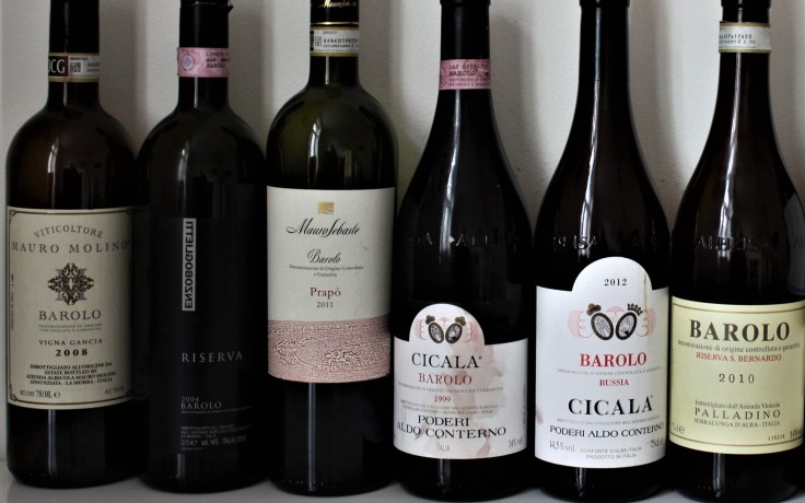 Barolo Night Oslo Lineup 6 wines