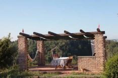 Gazebo with hammocks