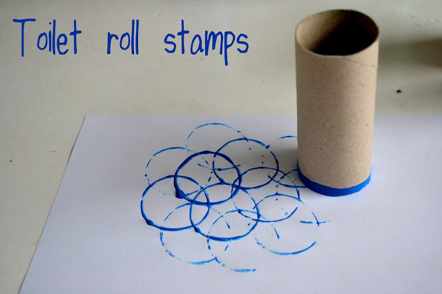 Toilet roll stamping: Weekly Pin Project #1