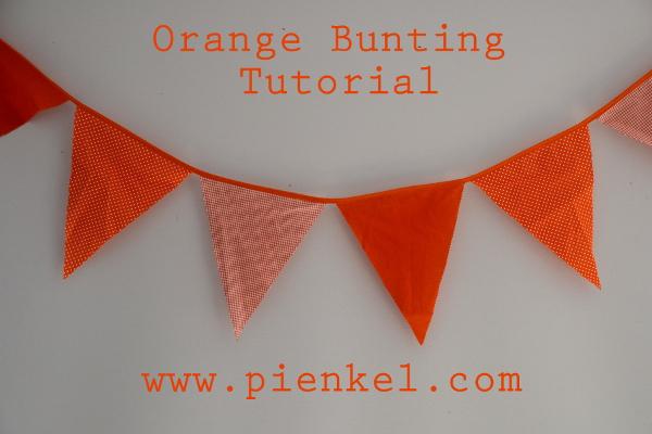 Orange Bunting Tutorial – All About Orange