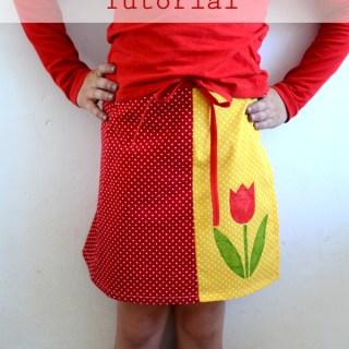 Colourblocked Tulip Wrap Skirt Tutorial