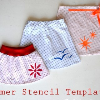 Summer Stencil Tutorial and Templates