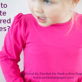 How to make gathered sleeves - Tutorial for Peek-a-Boo Pages by Pienkel