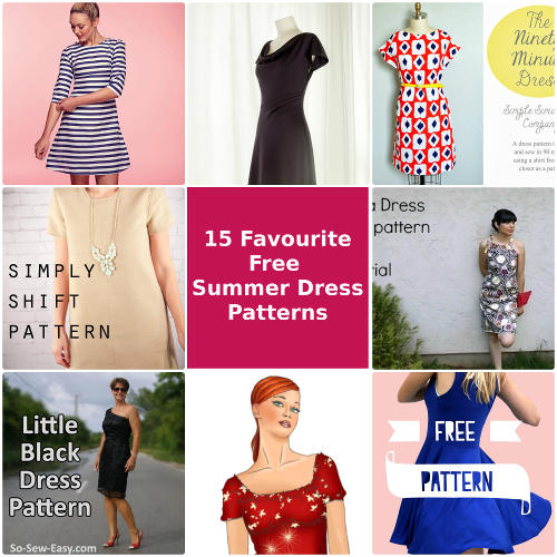 15 Favourite Free Summer Dress Patterns – So Sew Easy Contributor Post