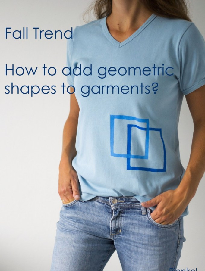 How to add geometric decoration to garments – UpCraft Club