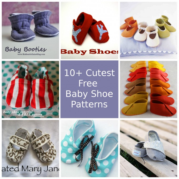 10+ Cutest Free Baby Shoe Patterns – So Sew Easy