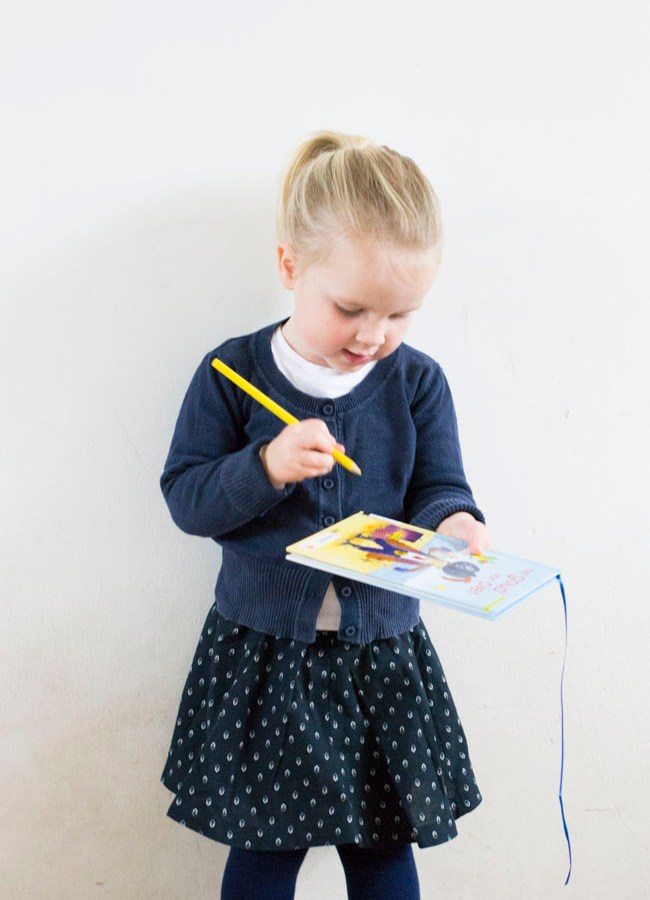 Classic Toddler – Navy Dyyni Skirt