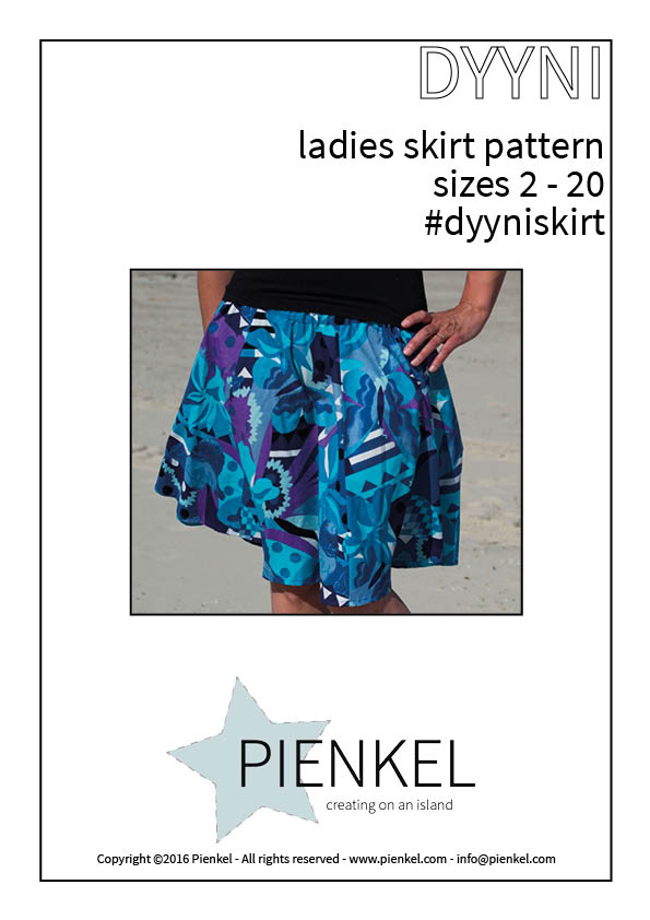 Pienkel DYYNI Ladies Skirt Pattern cover page